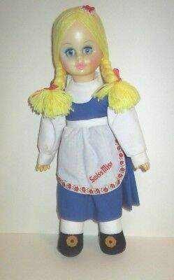 Vintage 1990's Swiss Miss Hot Cocoa Advertising Mascot Cloth & Vinyl Doll 13""