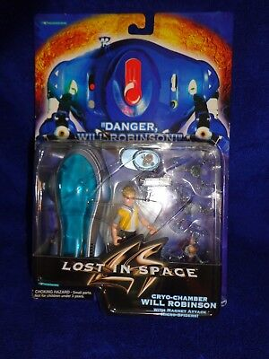 Lost In Space Cryo-Chamber Will Robinson Figure -w/ Magnet Attack Micro Spiders