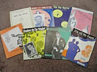 QTY 8 WWII era sheet music late 1930's to mid 1940's #10