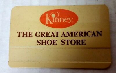 VINTAGE KINNEY THE GREAT AMERICAN SHOE STORE NAME TAG 1970-80's