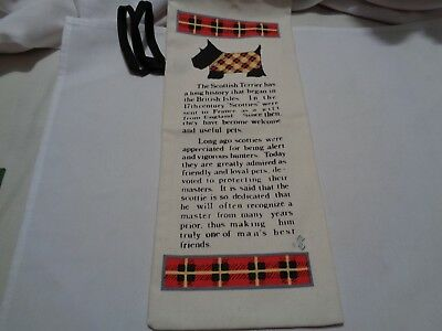 older fabric wine bottle carrier bag with scottie dog breed history never used