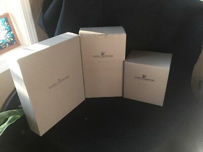 3 DANIEL SWAROVSKI PARADISE Metal Display Stands  Original Boxes Brand New