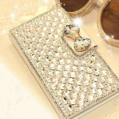 Luxury Bling Glitter Diamond Wallet Phone Case For Samsung Galaxy s7 s8 s9 Plus