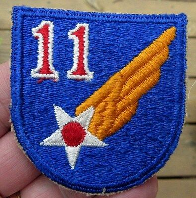 Ww2 11 Wing & Star Us Army Air Force Unknown Patch