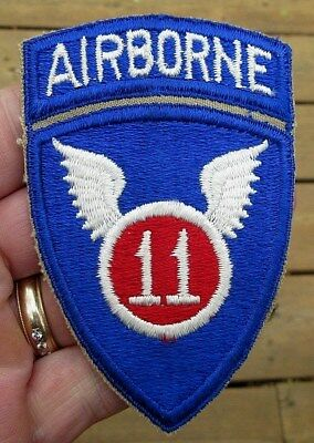 Ww2 Us Army 11Th Airborne & Rocker Patch