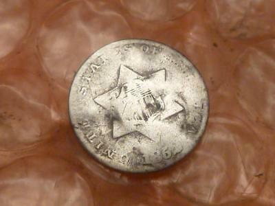 1852 Three Cent Silver Trime #2D