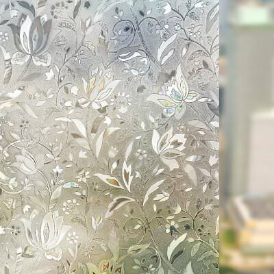 Privacy Static Cling Cover 3D Frosted Window Door Glass Film Home Decoration QQ8