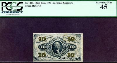 HGR SATURDAY 3rd Issue 10c FRACTIONAL ((BEAUTIFUL)) PCGS XF-45