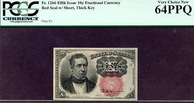 HGR SATURDAY 5th Issue 10c FRACTIONAL ((BEAUTIFUL)) PCGS CHOICE NEW 64PPQ