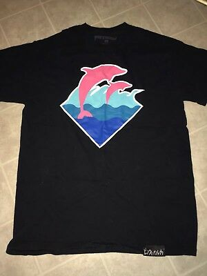 Pink Dolphin S//S WAVE BLOCK T-SHIRT OLIVE GREEN ZZ11811EWOL