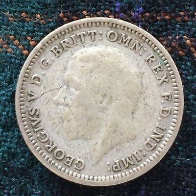 UK / Great Britain 3d Threepence 1934, George V - F, Silver