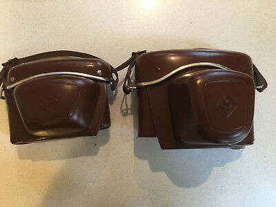Vintage Agfa and Praktica camera cases from 1960's - never used