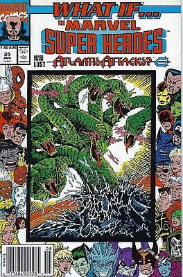 Marvel Comics 1989 WHAT IF… #25 Lost Atlantis Attacks? Australian Newsstand