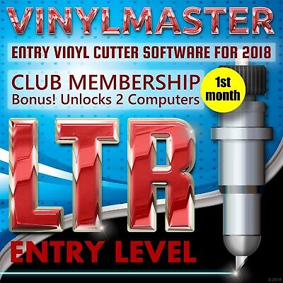 Vinyl Cutting Craft Software VinylMaster LTR Download Unlock 2 PCs (Monthly fee)