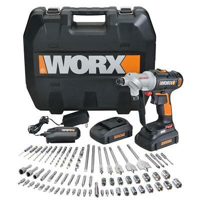 WX176L.1 WORX 67 pc. 20V Lithium Switchdriver Cordless Drill & Driver Set New