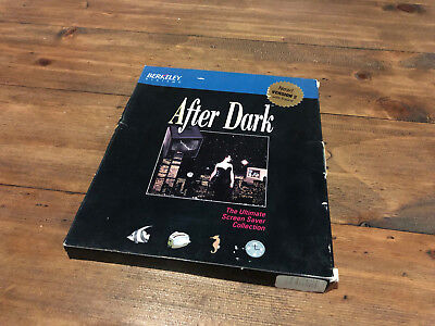 After Dark for Apple Macintosh Berkeley Systems Boxed Software Manuals Kit Rare
