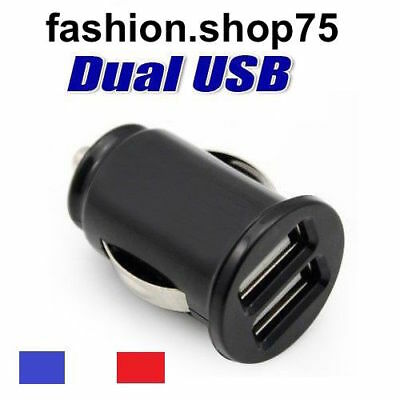 Lot De 2 Chargeur Voiture Allume Cigare Double Ports Usb Dual Usb