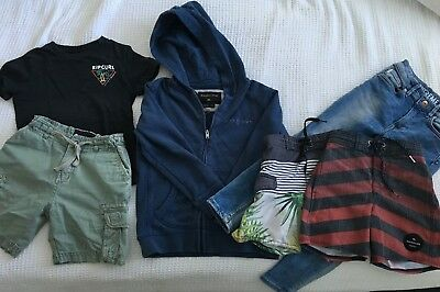 Boys Mixed Clothing Rip Curl Quiksilver Hoodie Shorts Hoodie H&M Jeans Sz 4 5 6