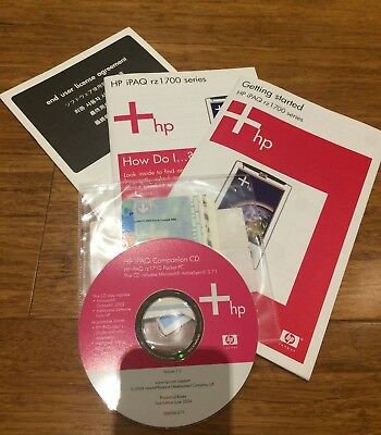 Getting Started HP iPAQ rz1700 Series User Manuals and CD with Windows CE