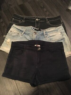 Shorts Blue Three Pairs GUC Denim Navy Blue Temt Factorie Girl Xpress Size 12