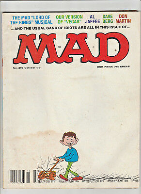 MAD Magazine #210 Oct 1979 Lord of the Rings Musical VEGA$ Comics Sound Effects