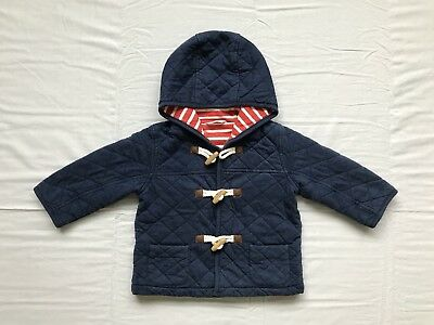 Boden Baby Boy / Girl Unisex Winter Quilted Duffle Coat 12-18m