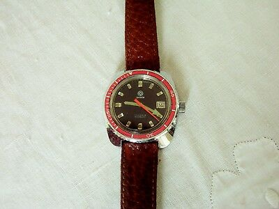 An ANCRE GENTS VINTAGE RETRO 70's SWISS MADE 17 JEWELS DIVER WATCH WITH DATE
