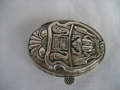 Egyptian Silver Scarab Trinket Box.