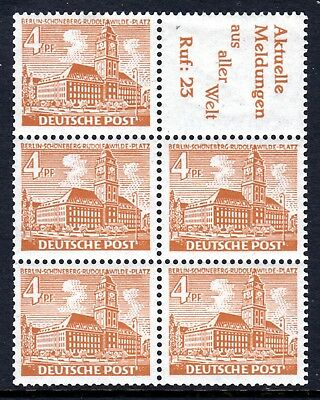 (051)     Germany (Berlin) 1949-54 Buildings 4pf Booklet Pane SGB36b MNH