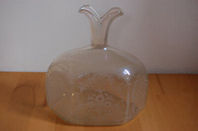 Glaskaraffe  Decanter  Flasche ca 1750 Holland Dutch Nederlande