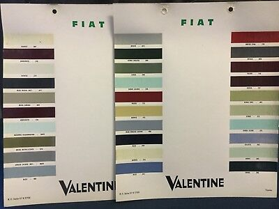Rare Lot Nuancier Colori 1960's FIAT 500 1200 2300 850 DINO 124 125  !!!