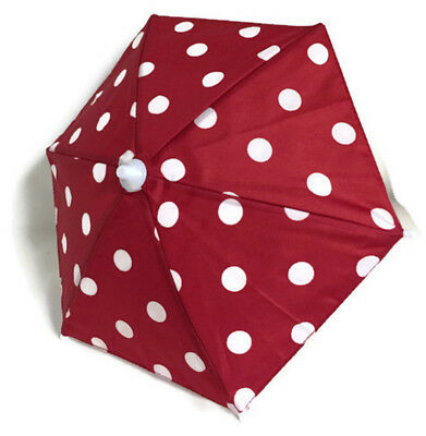 Red with White Polka Dots Umbrella for 18 inch American Girl Doll Clothes