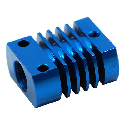 22x27mm Aluminum Heat Sink Cooling Blocks For 3D Printer Extruder MK10 Blue B6Q4