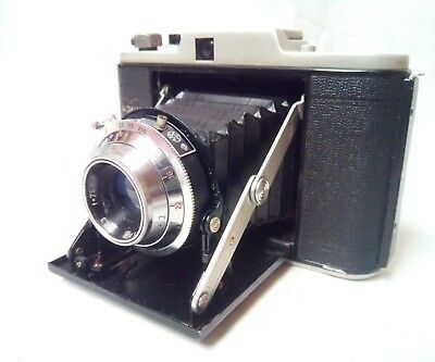 Adox IV Mess-Golf folding vintage camera with leather case
