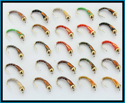 Trout Flies for Fly fishing Gold/H Buzzers  S101 Hook size 10 12 14 Trout nymphs