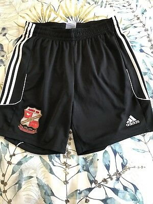 adidas Swindon Town F.C. Football shorts. Adult Size L. Black/White