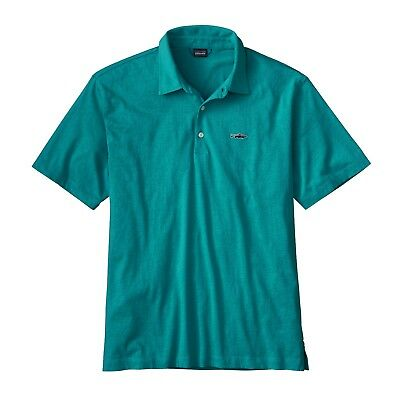 Patagonia Men's Polo - Trout Fitz Roy - Elwha Blue - L / Large