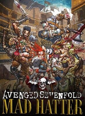"Avenged Sevenfold Mad Hatter Call Of Duty Black Ops 4 A7X Poster 13x20"" 24x36"""
