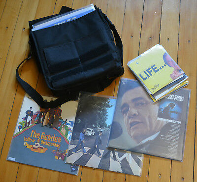 Vinyl Sammlung Beatles Blues Jazz in LP Tasche (Harrison Krishna Monty Python)