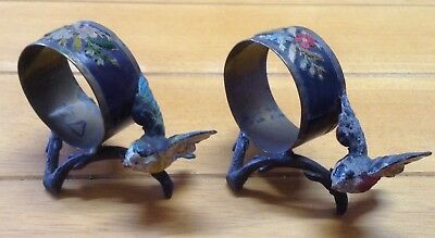 Antique Figural Birds Napkin Rings.