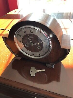 Antique Smiths Enfield 1930s 8 day mantel clock