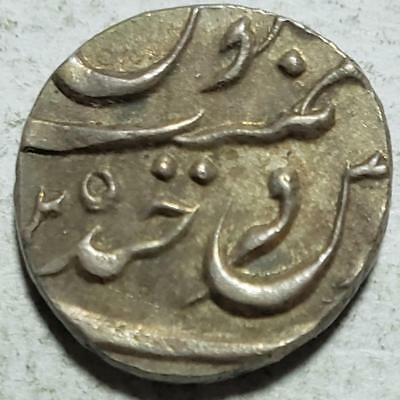 Hyderabad, India, 1/4 Rupee, AH1307, Extra Fine, .0735 Ounce Silver, #2