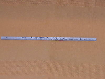 Starrett #c610N-6 Spring-Tempered Steel Rule With Inch Graduation