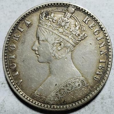 Great Britain, Gothic Florin, 1849 WW, Toned Very Fine, .3364 Ounce Silver