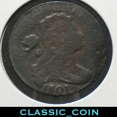 1801 U.s. Draped Bust Large Cent ☆ 217 Years Old Mint **error Thin Planchet
