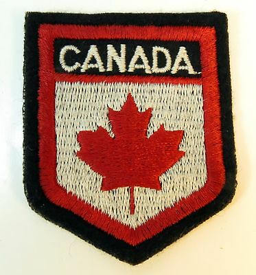 Vintage Canada Maple Leaf Red White Patch