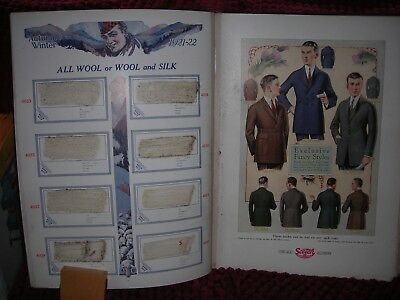 1922-1923 Scotch Woolen Mills Illustrated Tailor Clothing Book from Chicago