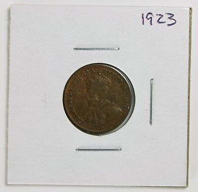 1923 Canadian Small Cent 1¢ – King George V Penny – Key Date!