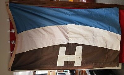 """Vintage Maritime Shipping Flag Halco, Hall Co, Great Lakes, About 45"""" x 76"""""""