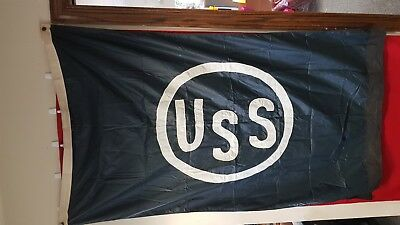 Vintage Maritime Shipping Flag USS US Steel Great Lakes Shipping